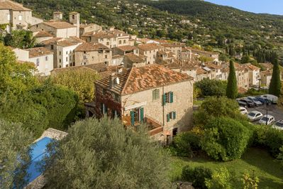 Secluded gardens and pool, but In the heart of the old village