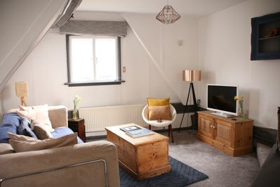 Cosy living room with sofa bed