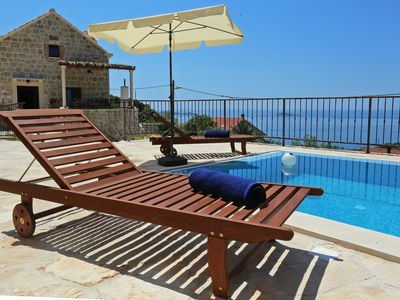 Photo for Stunning lovely stone 4 bedroom villa with private swimming pool near Dubrovnik