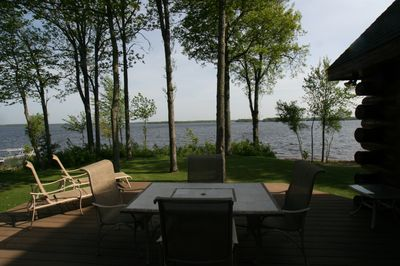 Part of Panoramic View of Lake from Deck