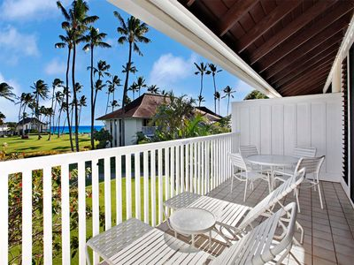 Photo for Epic Poipu Views From Lanai+Full Kitchen, WiFi, Flat Screen, Ceiling Fan–Kiahuna 2179