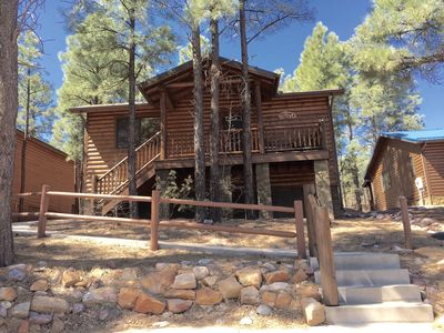 Photo for Pine Cone Cabin/Fenced yard for Dogs/Near Lakes & Hiking!