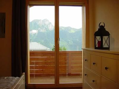 Birch Bedroom with balcony and bathroom View of Le Chamossaire