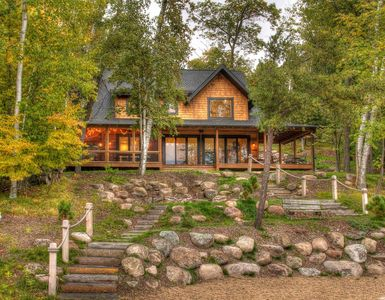 Photo for Beautiful, modern newly built cabin on quiet Rush Lake bay