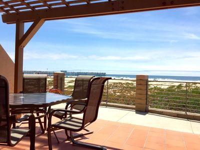 Photo for Oceanfront End Unit Condo w/ Free WiFi, Fireplace, Decks & BBQ