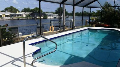 Photo for Waterfront Pool Home with River access to Tarpon Springs Sponge Docks & the Gulf