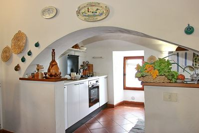 kitchen inside a medieval tower