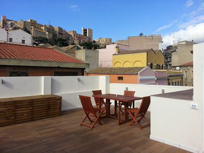 Photo for Old Town Apartment with XL sun terrace