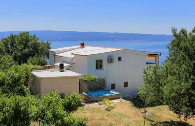 Photo for Two bedroom apartment with terrace and sea view Podstrana (Split)