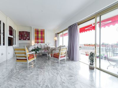 Photo for Luxury top floor apartment 114m2 4 rooms with panoramic sea views, quiet