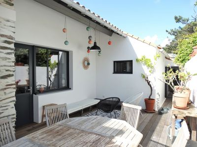 Photo for 250 m from the beach, typical house & 3 outdoor spaces