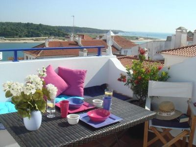 Photo for Just for 2- House with Sea and River Views in Vila Nova de Milfontes