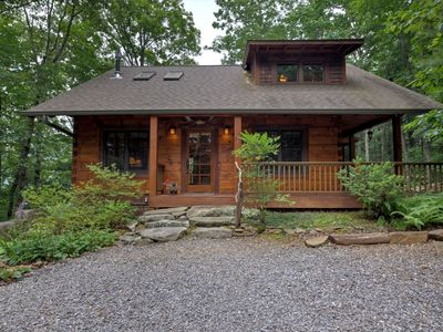 Photo for Elkhorn Cabin - The ultimate cabin experience! 8 minutes to downtown Asheville. In-home sauna!