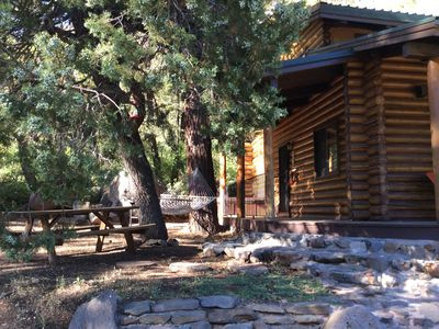 Photo for Stunning Views in charming Log Cabin Sedona/close to downtown