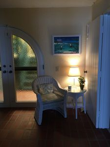 Cozy alcove for private time in entry foyer where you can make use of free WiFi