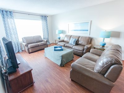 Photo for Spacious Oceanfront Condo (A3) with 4 Bedrooms/3 Baths with Pool-Pets Welcome