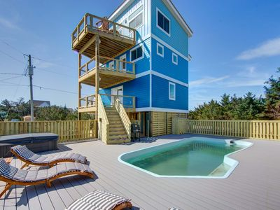 Photo for NEW CONSTRUCTION--4 bed w/ private pool. steps way from beach