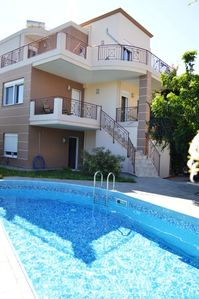 Photo for (w) Villa Amfi | A Wonderful First Floor | 3 Bedroom with Shared Pool | Chania
