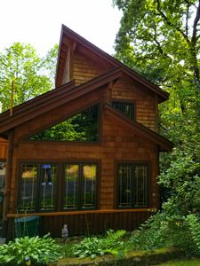 Photo for LAKE GEORGE COZY 3 BEDROOM LOG CABIN