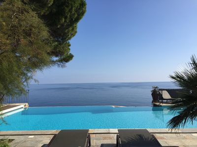 Photo for Rent Mansion in Corsica, on the sea with pool, sleeps 12