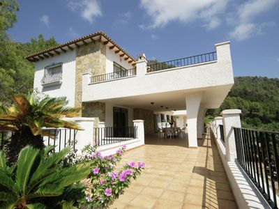 Photo for Beautiful villa with stunning view on a huge private property in Pego