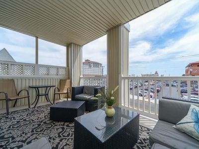 Photo for Enjoy Ocean Breezes from Covered Balcony; 1 Block from Beach and Boardwalk!