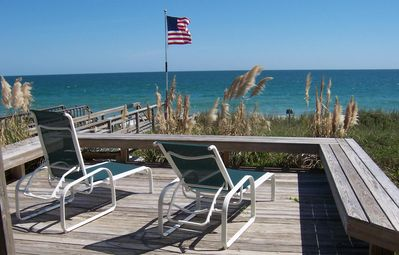 Photo for Ocean front private beach house 4 bedrooms. Sleeps 8. Private access to beach
