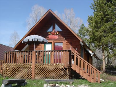 Photo for Moose Cabin -Great Location-Views-Deck-Fire Pit-Perfect for Couples/Sm Family