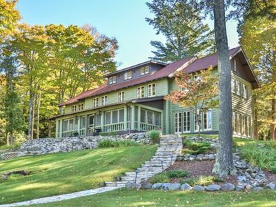 Photo for Historic Estate on beautiful Duck Lake, Watersmeet Mi, Northwoods