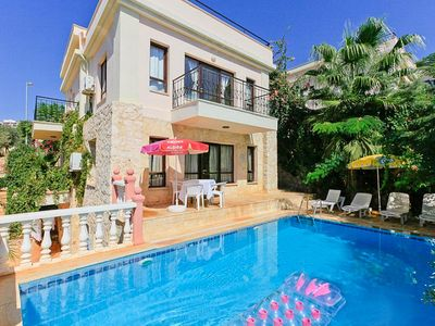 Photo for Villa Rose: Large Private Pool, Walk to Beach, A/C, WiFi, Car Not Required
