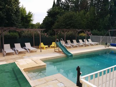 Photo for Relaxation and conviviality -6 pers- 2 ch- clim, pool, jx enfts, bbq