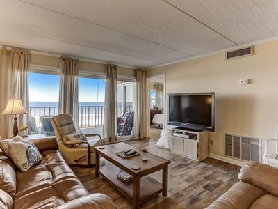 4th floor with awesome oceanfront views, private balcony, all the amenities for an amazing vacation.