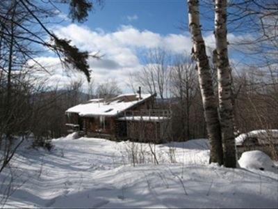 Photo for Three Level Log Vacation Home on 21 Acres Near Lake Ninevah