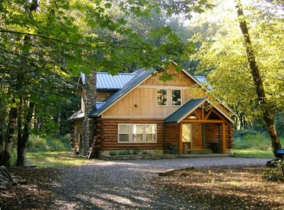 Log Home Located on the Tilton River