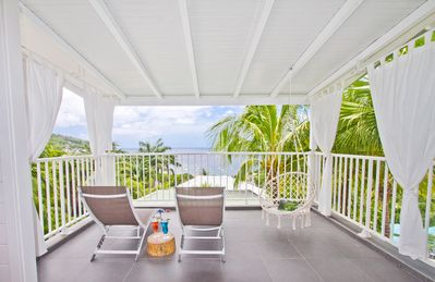 Photo for Grande Anse cottage with view of the Caribbean Sea. Residence O Coeur de Deshaies