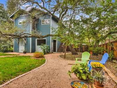Photo for Austin Summer Vibe!  Secluded Zilker Garden Home, Screened Deck, King Bed!