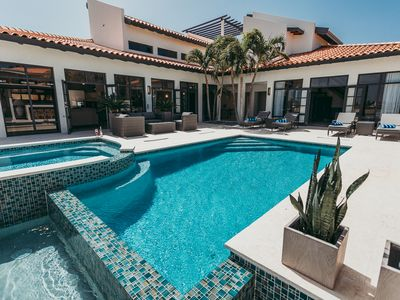 Photo for NEW! Majestic 4 BR villa 200 yd from Marriott Jacuzzi w/ Heat