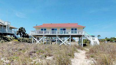 """Photo for Ready after Hurricane Michael! Beachfront, Pets Welcome, West Gulf Beaches, 3BR/2BA,Free Wi-Fi """"1st Ashore"""""""