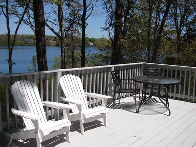Photo for Cape Cod cottage on Depot Pond & bike trail with updated kitchen and bathroom.