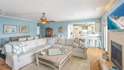 Photo for One Block from the Beach, Expansive Family Room, Huge Deck!