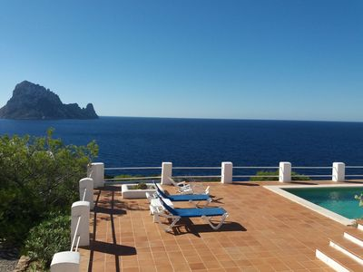 Photo for Comfortable Spanish villa with magical views of Es Vedra