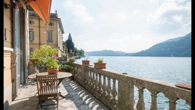 Photo for Historic Villa with gorgeous patio on Lake Como