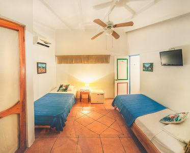 Photo for Twin Room at Charming Hotel Mahayana. Shared Kitchen & Pool. Beach at 5 minutes