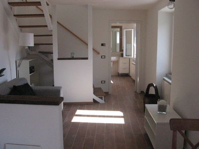 Photo for Apartment in Lunigiana, quiet sunny location overlooking the mountains.