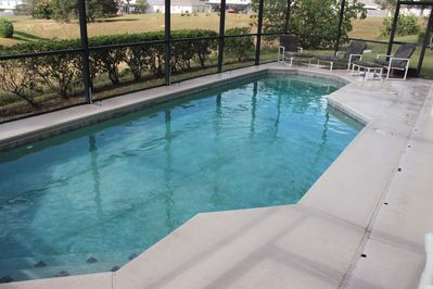 Quiet and secluded pool. Neighbors don't have pools and rear neighbors are far.