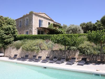 Photo for THREE APARTMENTS IN A HOUSE WITH POOL GORDES