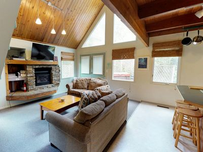 Photo for NEW LISTING! Cozy chalet near the slopes w/ a full kitchen & hot tub