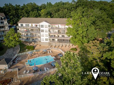 Photo for NEW July 2020! Ledges Condo Overlooks Pool & Beach, King Master, Wi-Fi, 40' Dock