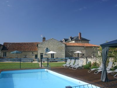 Photo for 3 newly renovated gites with swimming pool on the Loire Valley/Vienne border