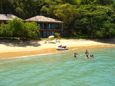 Photo for Elegant and Exclusive set of 2 houses with 9 rooms, private beach and boat.